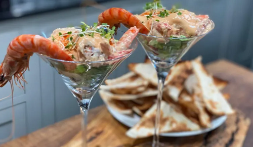 James Martin's prawn cocktail with Melba toast on This Morning