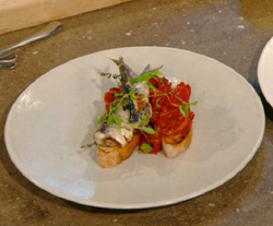 Jason Atherton's sardines on toast on Saturday Kitchen