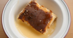 Thomas and Mile's syrup and ginger sponge pudding and custard on Celebrity Masterchef 2020