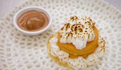 Matt's torta alla meringa (sponge cake with diplomat cream and chocolate  gelato) made usi ...
