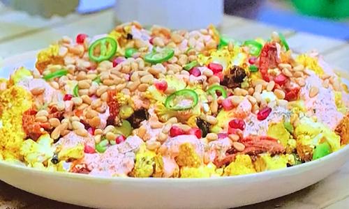 Tom Kerridge's BBQ cauliflower salad on Tom Kerridge Barbecues