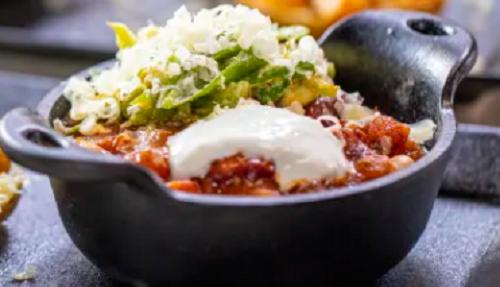 Lisa Faulkner's cowboy beans with avocado, cheese, yoghurt and salsa on John and Lisa̵ ...