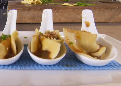 Nick Nairn and Dougie Vipond crab tortellini on The Great Food Guys