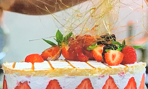 James Martin's Instant strawberry gateaux with double cream and raspberries on James Marti ...