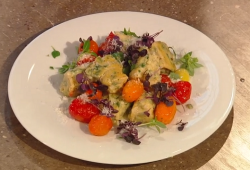 Donna hay's cheat's ricotta gnocchi with a tomato pan sauce on Saturday Kitchen