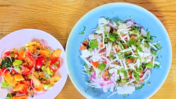 Stacie Stewart's haddock ceviche and papaya salad for the South American diet on How To Lose Wei ...