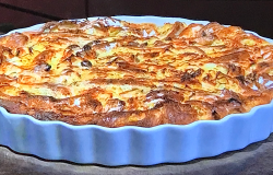James Martin's white chocolate and bourbon croissant butter pudding on James Martin' ...