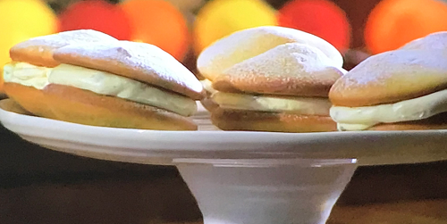 James Martin vanilla and passion fruit whoopie pies with a cream cheese filling on James Martin& ...