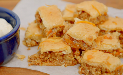 The Hairy Bikers baklava with a orange infused syrup and cream on Saturday Kitchen