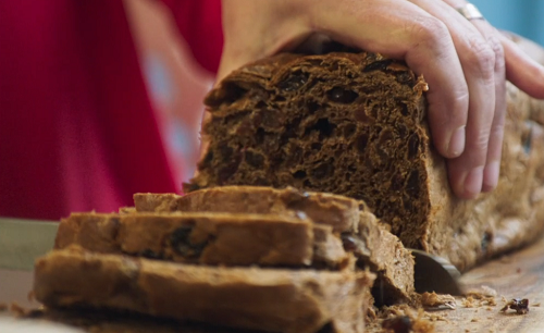 Barn Brack fortune telling cake on Mary Berry's Simple Comforts