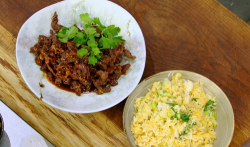 James Martin deep fried chilli beef with egg fried rice on James Martin's Saturday Morning
