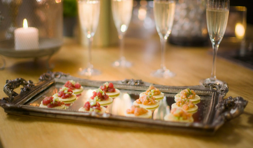 Gok Wan tuna and salmon blinis (canapes) on Gok Wan's Easy Asian