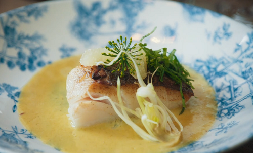 French baked cod with butter herb sauce on Mary Berry's Simple Comforts