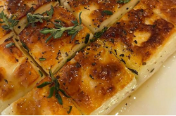 Morgan McGlynn  Baked Halloumi with Thyme, Lemon and Honey on Sunday Brunch