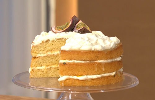 Mary Berry passion fruit lemon cake on This Morning