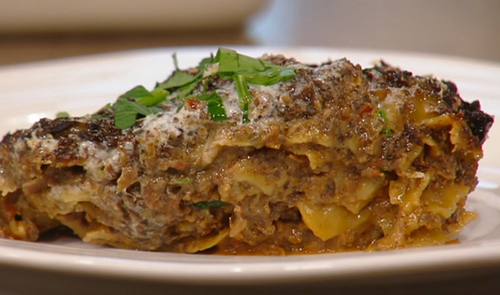 Yotam Ottolenghi Spicy mushroom lasagne on Saturday Kitchen