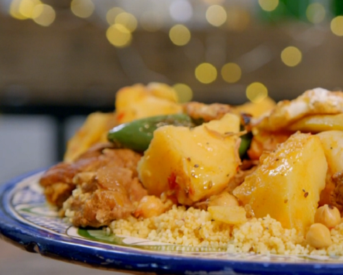 Alison Hammond Tunisian lamb with couscous on Ainsley's Food We Love