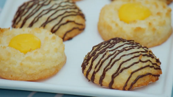 Prue Leith mango and coconut macaroons on The Great British Bake Off 2020