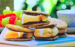 Tom Kerridge's marshmallow s'mores sandwiches on Tom Kerridge Barbecues