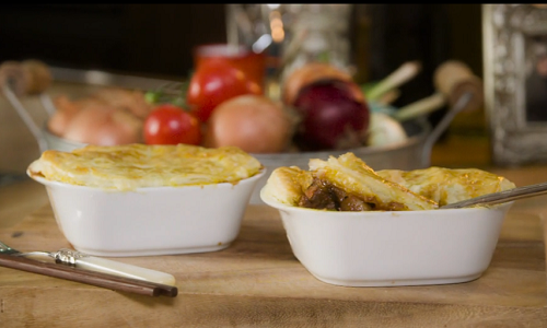 Gok Wan east meets west beef pie with peas on Gok Wan's Easy Asian