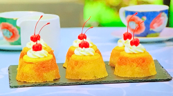 Paul Hollywood pineapple upside down cakes with caramel on The Great British Bake Off 2020