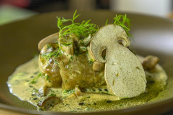 Kuba Winkowski classic Polish golabki cabbage roll with Jerusalem Artichoke, potatoes, smoked sa ...