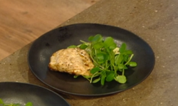 Matt Tebbutt turbot with courgettes and a sweet and sour dressing on Saturday Kitchen