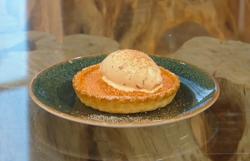 Matt Tebbutt's  pumpkin and nutmeg tart on Saturday Kitchen