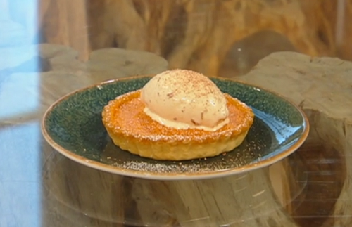 Matt Tebbutt's  pumpkin and nutmeg tart on Saturday Kitchen