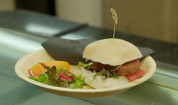 Barry Jordan and Chris Bavin Jamaican jerk vegan burger on Eat Well For Less?