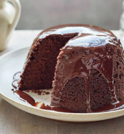 Mary Berry Chocolate Steamed Pudding with Chocolate Sauce on Mary Berry's Simple Comforts