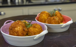 James Martin chicken and rosemary croquetas with mayonnaise on James Martin's Saturday Morning