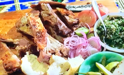 John Torode Goat with salsa verde, pickles and bread on John Torode's Middle East