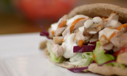Chris and John's chicken kebab with garlic mayonnaise on Eat Well For Less?
