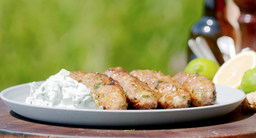 James Martin Lamb Kebabs with BBQ Glazed and Tzatziki Sauce on James Martin's Saturday Morning