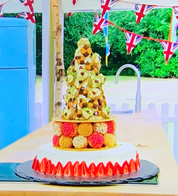 Peter's bonkers bake off bubble cake showstopper with a Victoria sandwich base and French  ...