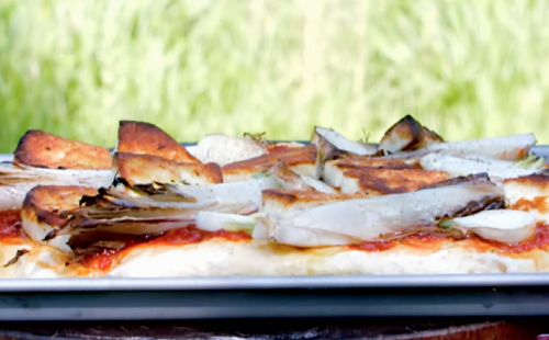 James Martin halloumi and chicory with flatbread and chilli jam on James Martin's Saturday ...