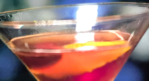 Kirstie Allsopp sherry and ginger Manhattan with bourbon and vermouth , sherry brandy and ginger ...