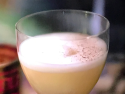 Phil Spencer's spiced apple sour mocktail with a smoky Scottish nonalcoholic whiskey, ging ...