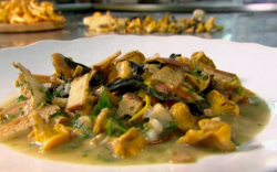 Raymond Blanc's mushroom fricassee with chopped tomatoes, chervil and tarragon on Saturday ...