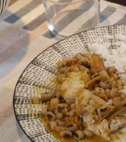 Kemi's Nigerian nosh with rice on Our Food, Our Family with Michela Chiappa