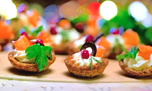 Nancy Birtwhistle and Kirstie Allsopp's kids party shells snacks with brown wholemeal brea ...