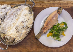 James Martin's Salt Baked Trout with Fennel and Orange Salad on James Martin's Satur ...