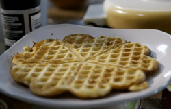 Scott's Norwegian waffles on Our Food, Our Family with Michela Chiappa