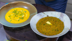 James Martin carrot soup with lentil dhal on James Martin's Saturday Morning