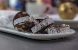 James Martin Turbot Chocolate Salami and Golden Chocolate Giggle Bells on James Martin's Saturda ...