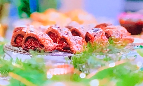 Rachel Khoo's sausage rolls with cocoa nibs and chocolate pastry on Rachel Khoo: A Chocola ...