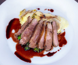 James Tanner's maple glazed duck breast with turnip and thyme gratin on James Martin' ...
