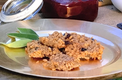 Jekka Mcvicker's flapjacks with pears, sage, cinnamon and nuts on Love Your Weekend with A ...