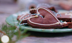 Rachael Khoo chocolate gingerbread with wholemeal flour, black pepper and white chocolate icing  ...